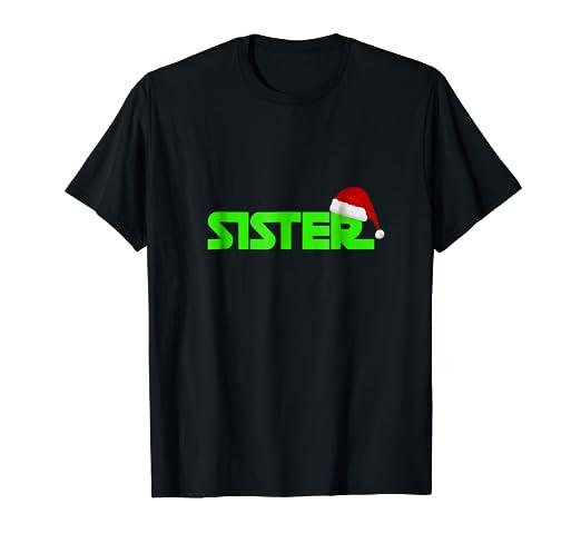 Sister Christmas Santa Hat Family Matching Pajamas T-Shirt