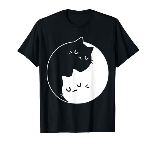 Ying Yang Cats Cat T,Shirt Tee