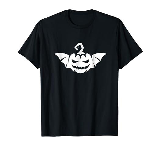 pumpkin with bat wings t shirt funny halloween costume tee