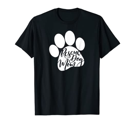 1577fe33 Image Unavailable. Image not available for. Color: Rescue Dog Mom Shirt  Furbaby Rescue Dog Shirts for women