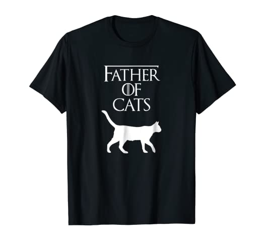 b6bed152e Amazon.com: Mens Father of Cats | Fur Dad | Funny Cat Lover T-Shirt  S500392: Clothing