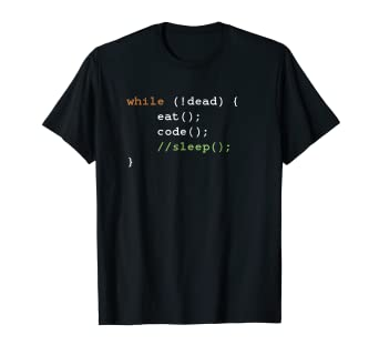 76c42518c Image Unavailable. Image not available for. Color: Computer Science  Programmer Eat Code Sleep T-Shirt