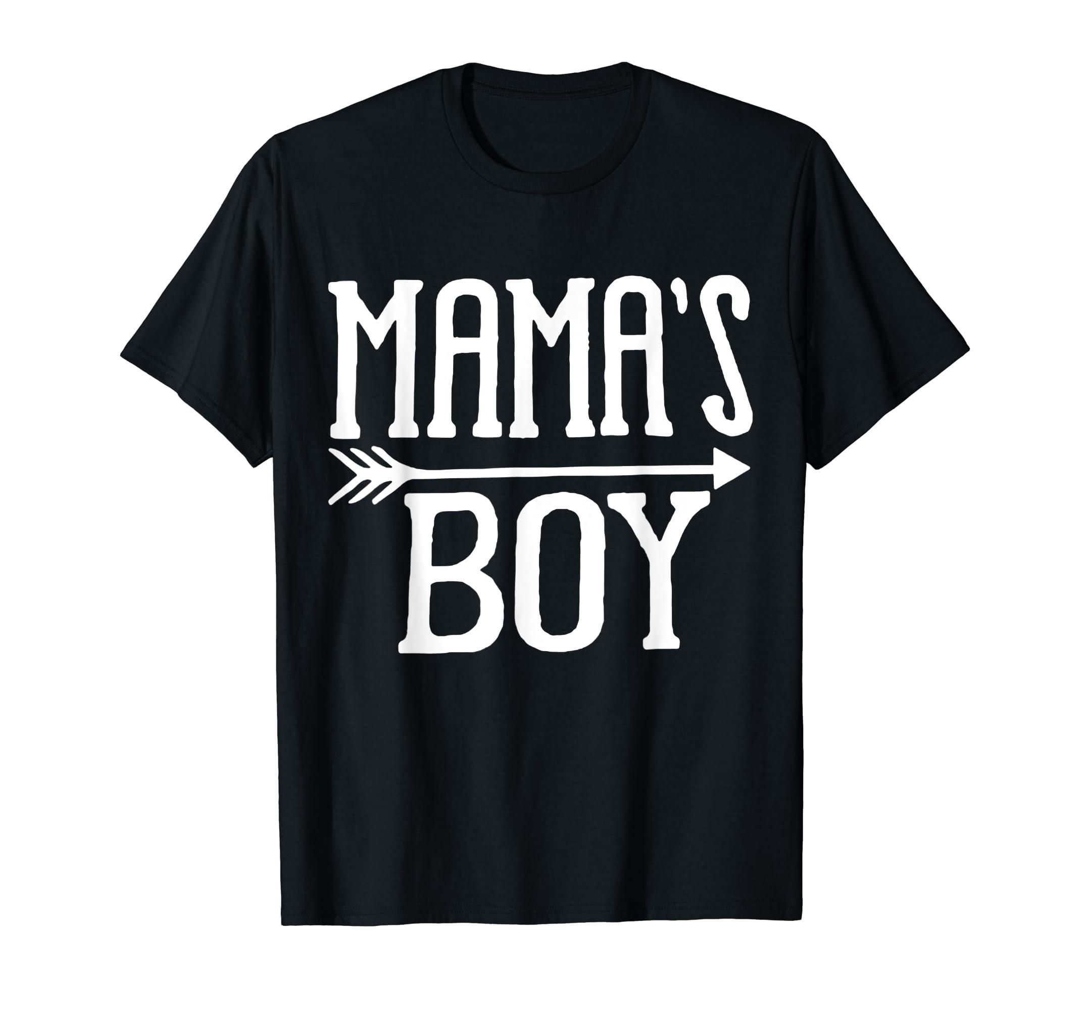 fda0c4148 Amazon.com: MAMA'S BOY T-SHIRT: Clothing