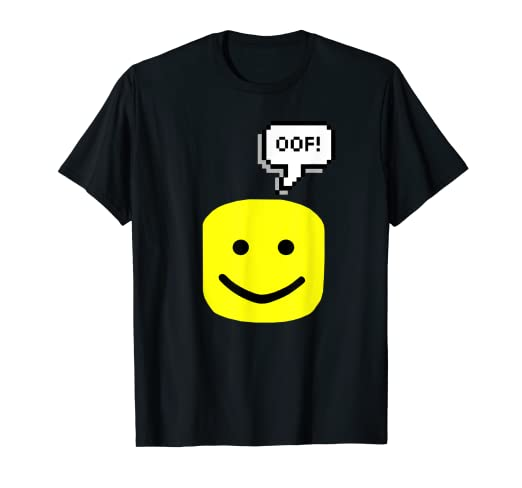 Oof Noob Game Text Bubble Meme Shirt for Boys and Girls