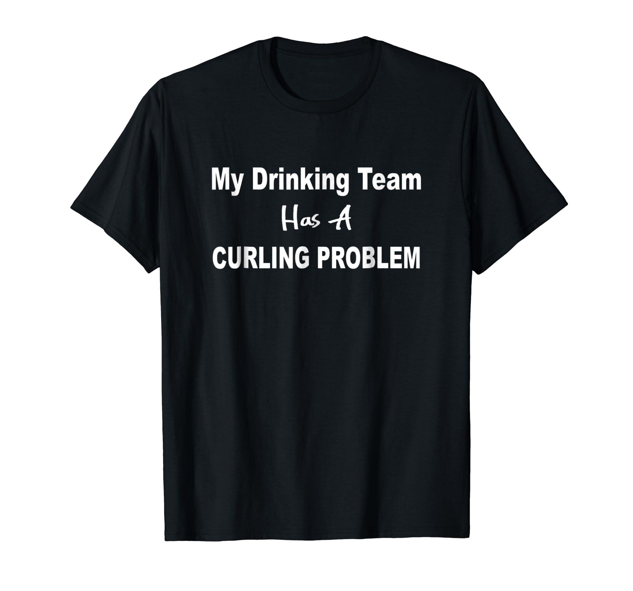 1c4f512bb Amazon.com: Funny Curling T-Shirt: Clothing