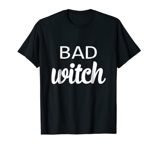 7616d063 Image Unavailable. Image not available for. Color: Funny Matching Bad Witch  Good Witch Friend Women Girl Tshirt