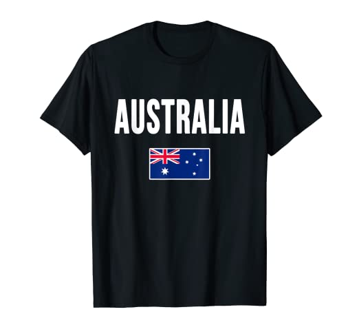 a674bed7f Image Unavailable. Image not available for. Color: Australia T-shirt  Australian Flag Gift Souvenir Love
