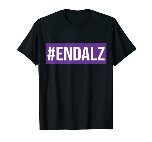 497bdb9df08 Amazon.com: Alzheimers Awareness T-shirt - END ALZ: Clothing
