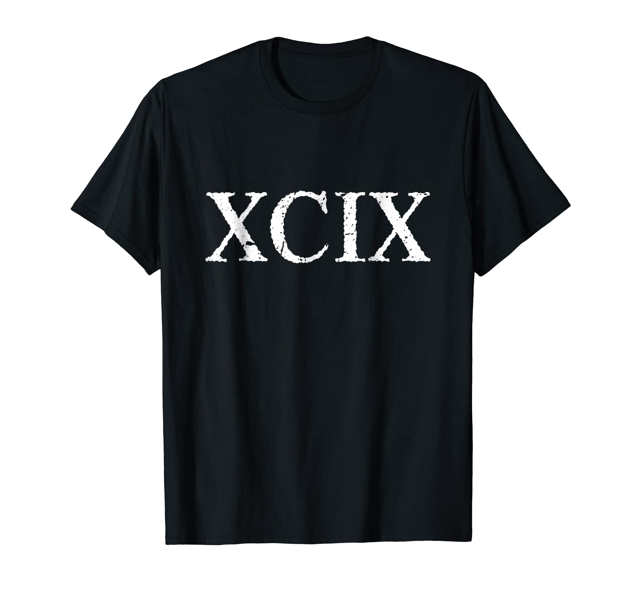 Amazon Roman Numeral 99 XCIX Shirt Clothing