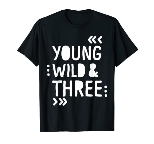 090da41fb Image Unavailable. Image not available for. Color: Kids 3rd Birthday Shirt  YOUNG WILD AND THREE