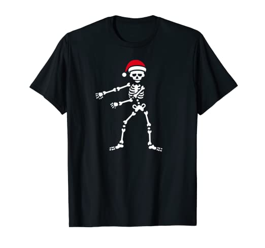 ccd0c5b8 Image Unavailable. Image not available for. Color: Flossing skeleton Floss  Santa Claus kids T-shirt