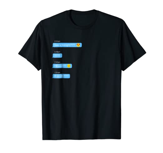 a3ec47b6b Image Unavailable. Image not available for. Color: Ghosted Text Message  Funny Easy Halloween T-Shirt