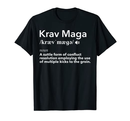 Amazon com: Krav Maga Definition T Shirt: Funny Self-Defense