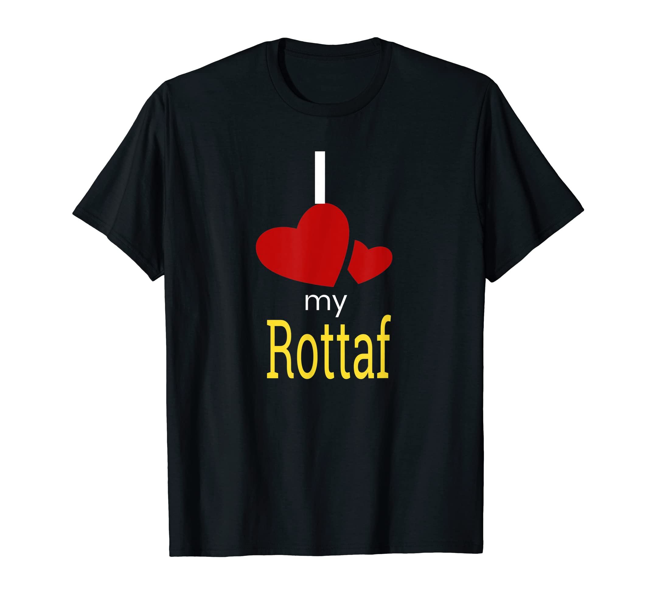 Rottaf Dog Shirt Love Rottweiler + Afghan Hound =  T-Shirt-Men's T-Shirt-Black