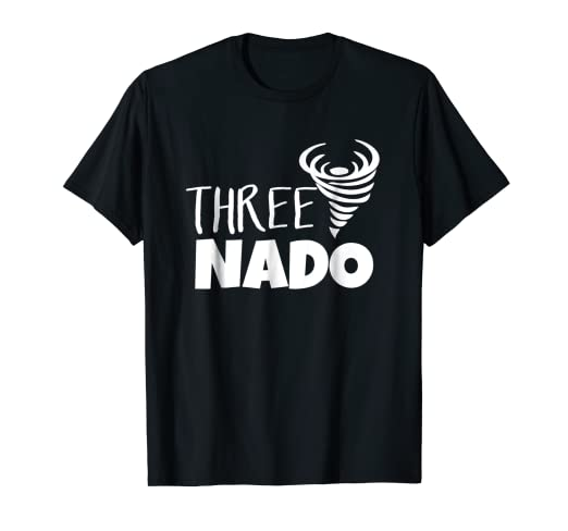 3718c534 Image Unavailable. Image not available for. Color: Threenado T-Shirt - Three  Tornado Funny Toddler
