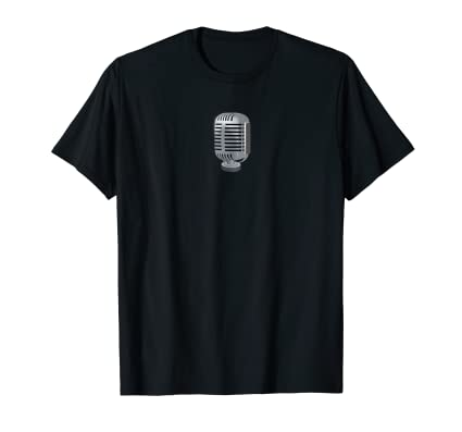 Classic Vintage Microphone graphic t shirt for music lovers