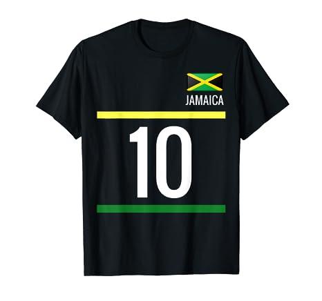 719f166e2 Amazon.com  Jamaica Soccer T-Shirt - Jamaican Football Jersey 10 ...