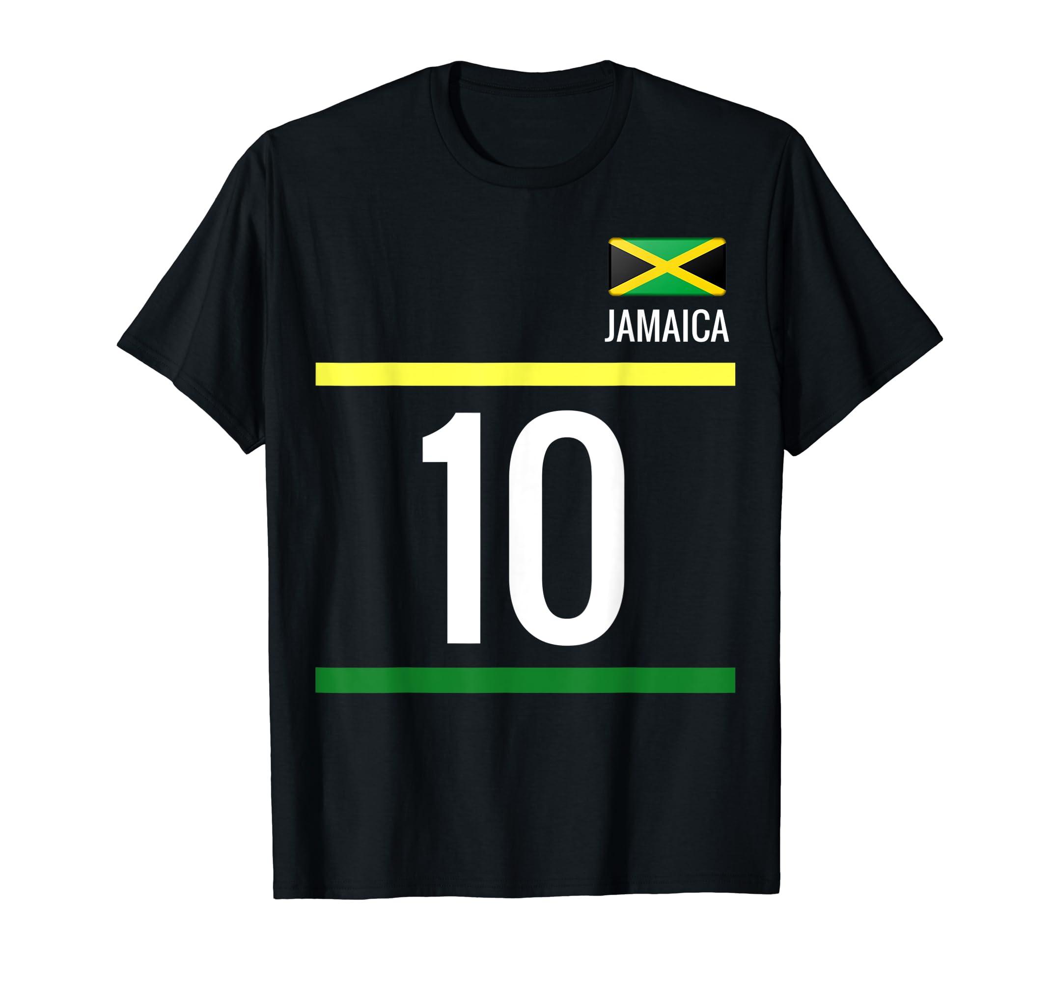 53c004fad Amazon.com  Jamaica Soccer T-Shirt - Jamaican Football Jersey 10  Clothing