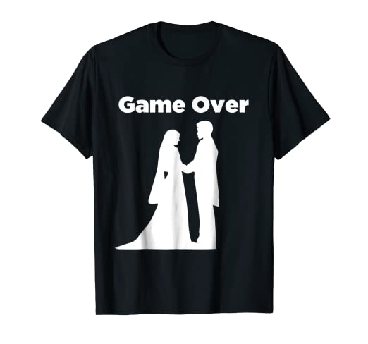 4cae9961 Image Unavailable. Image not available for. Color: Game Over T-Shirt - Funny  Married Couple Marriage tee shirt