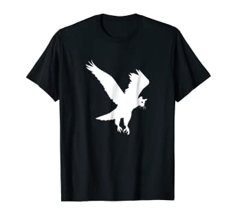 f0cdf5a645fe Image Unavailable. Image not available for. Color: Funny HawkCat Hybrid  Animal T Shirt For Hawk And Cat Lovers