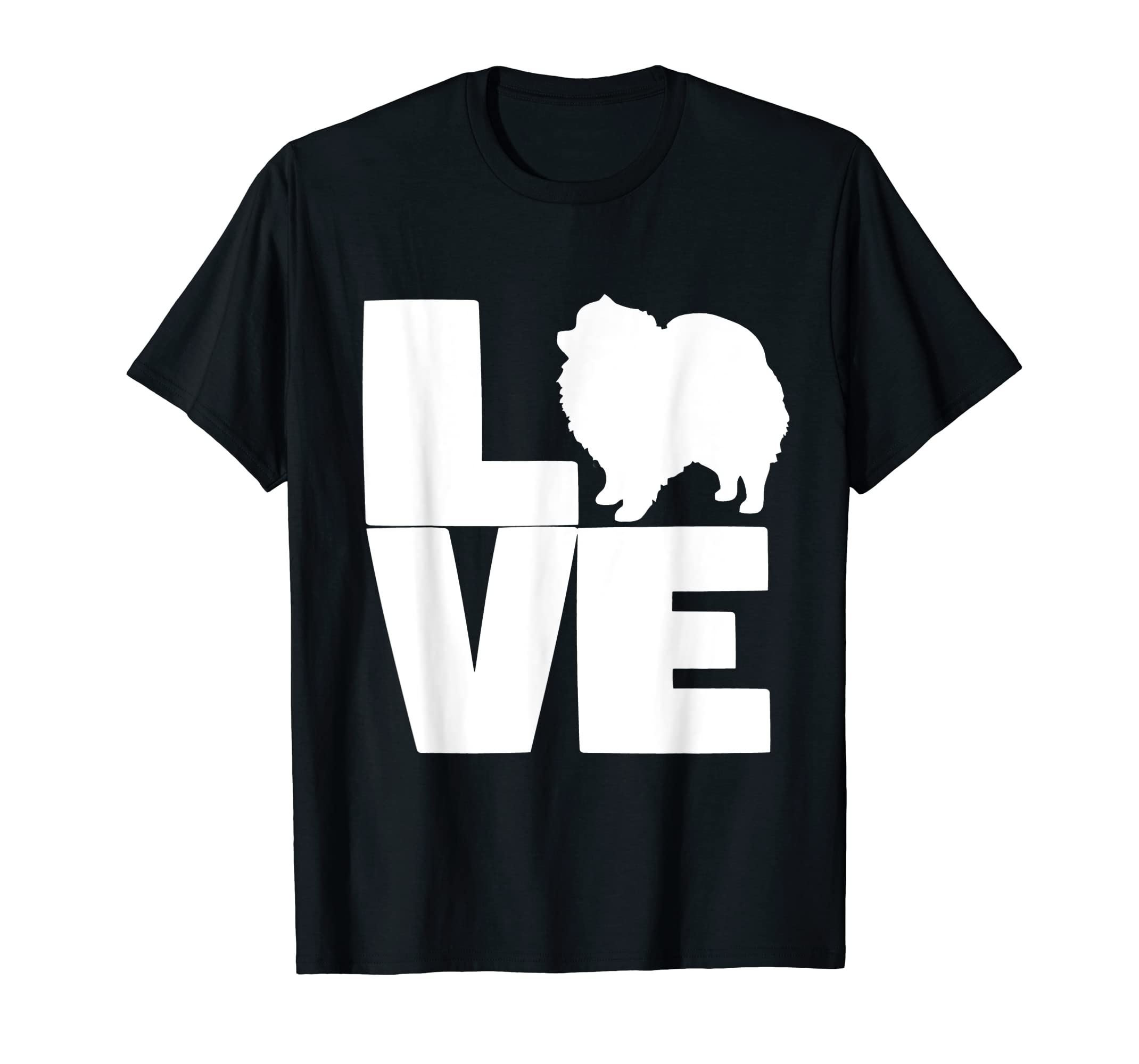 I Love Pomeranians Pom Mom or Dad Pet Lover T Shirt-Men's T-Shirt-Black