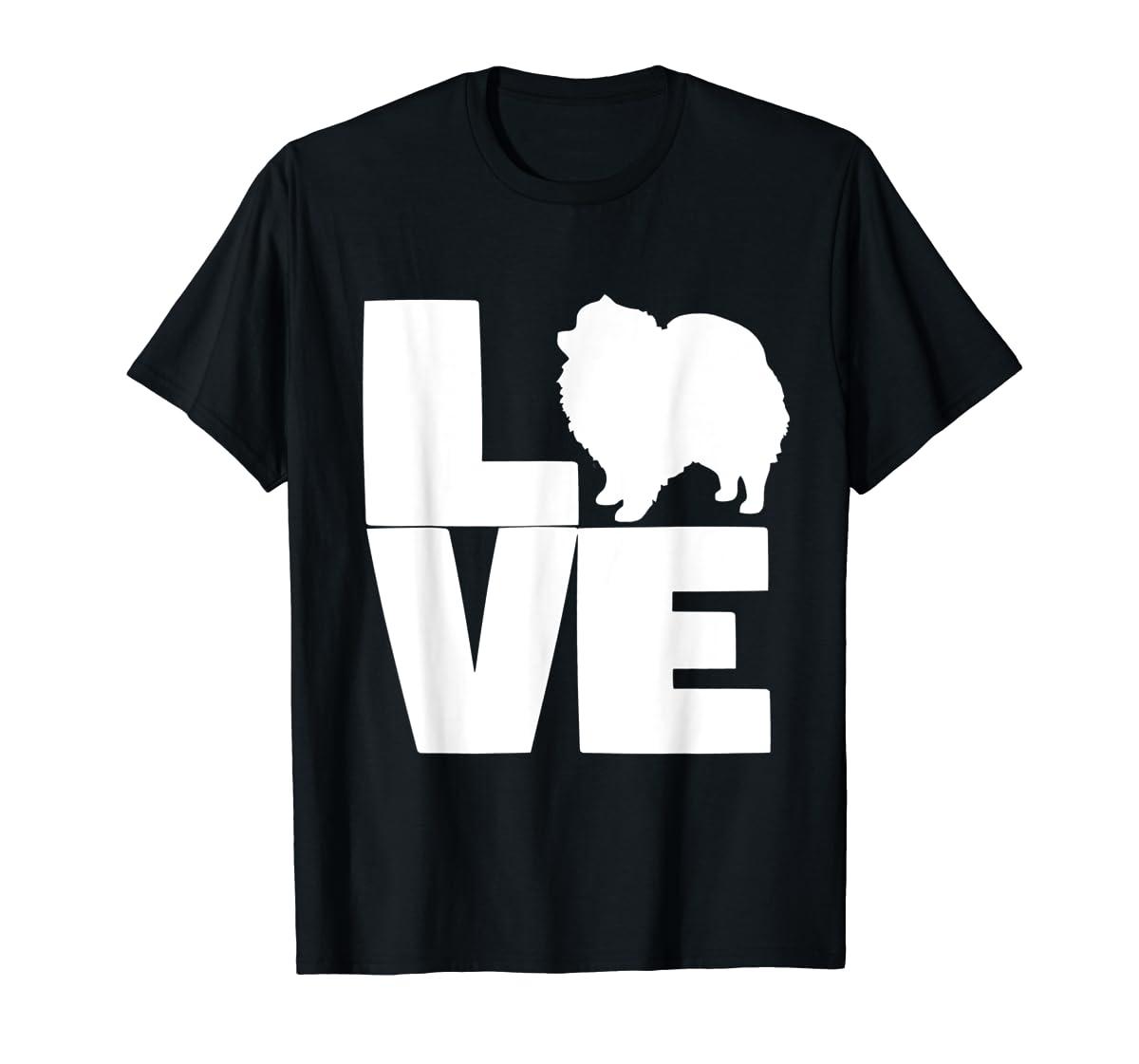 I Love Pomeranians Pom Mom or Dad Pet Lover T Shirt-Men's T-Shirt-Black