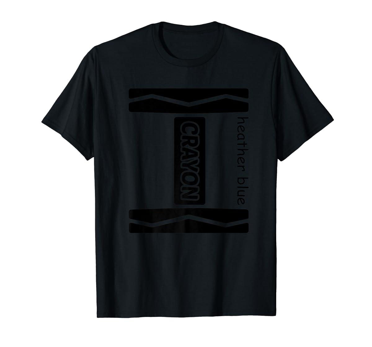 Heather Blue Crayon Halloween Costume Couple Friend Group Premium T-Shirt-Men's T-Shirt-Black