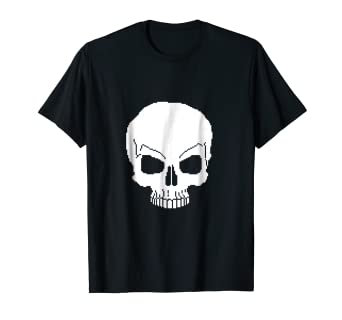 86d0b732d Image Unavailable. Image not available for. Color: Pixel Skull Shirt ...