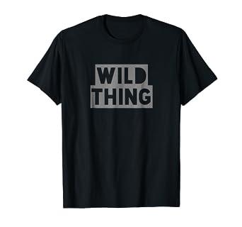 27a3e6d5 Amazon.com: Wild Thing Tee Shirt: Clothing
