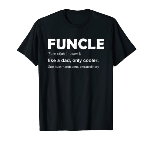 a0f33ba4 Image Unavailable. Image not available for. Color: Mens Funcle T Shirt For Funny  Uncle Definition ...