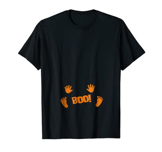 a39972ff492ea Image Unavailable. Image not available for. Color: Pregnancy Halloween  Costume Shirt Boo Baby ...