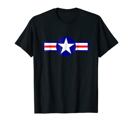 6781d70c Image Unavailable. Image not available for. Color: USA World War II Plane  Insignia T-Shirt