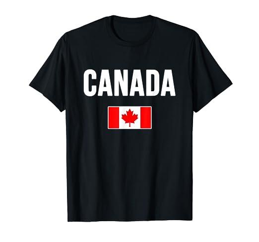55a70fa755 Amazon.com: Canada T-shirt Canadian Flag Love Gift Souvenir ...