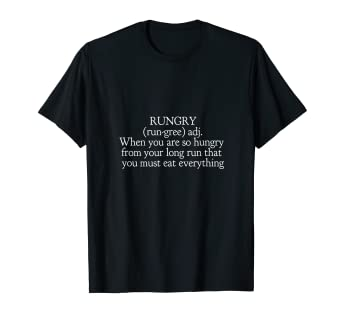 cfe0f0aa38 Amazon.com: Rungry Definition - Running Shirt - Runners T Shirts ...