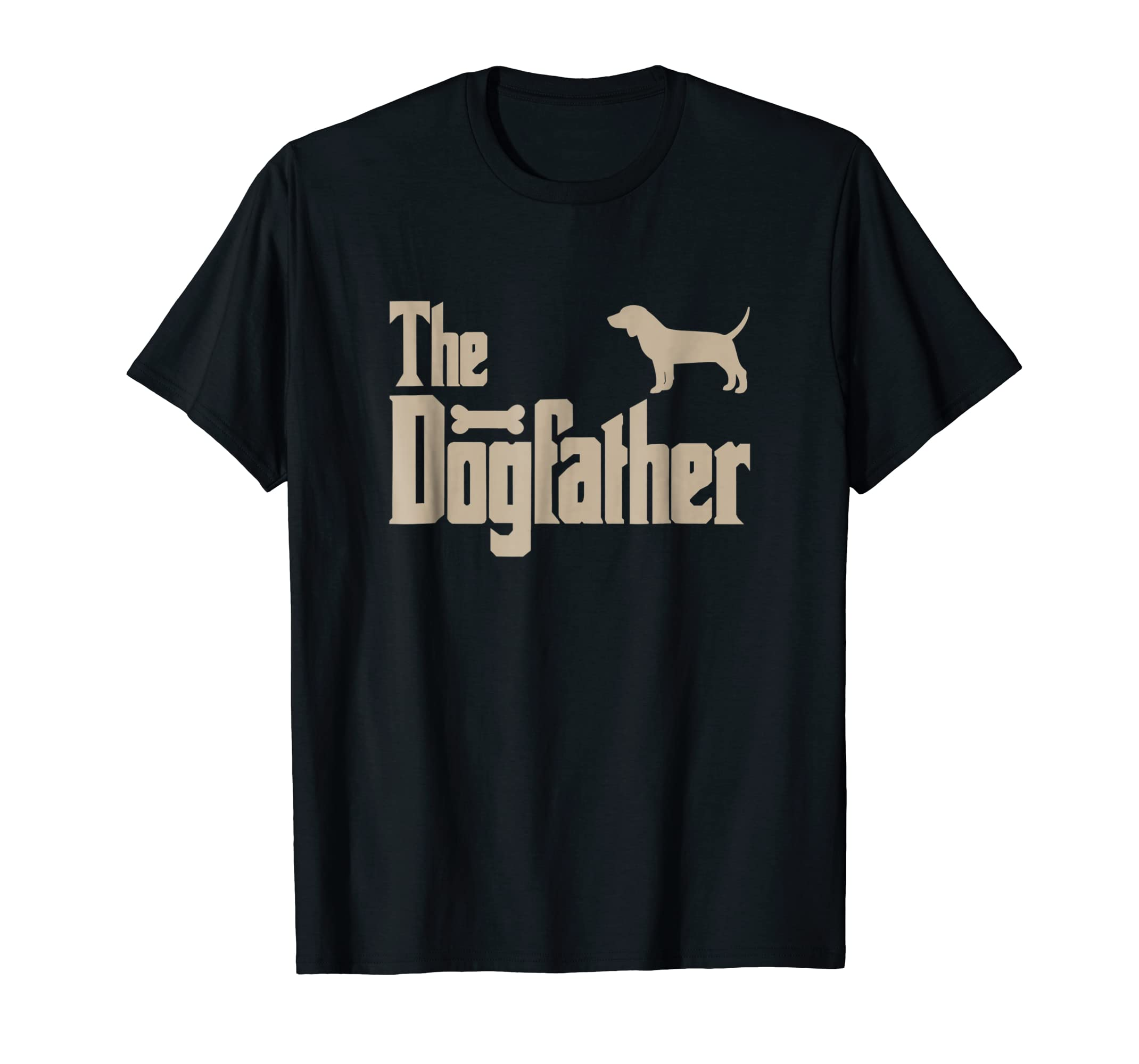 "Mens Beagle Dog Lovers Gifts ""The Dogfather"" Men Tee Shirts-Men's T-Shirt-Black"