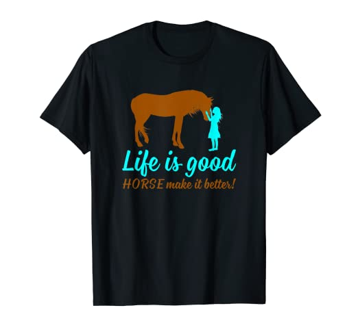 f53aba897bdf59 Image Unavailable. Image not available for. Color: LIFE IS GOOD HORSE MAKE  IT BETTER T SHIRT