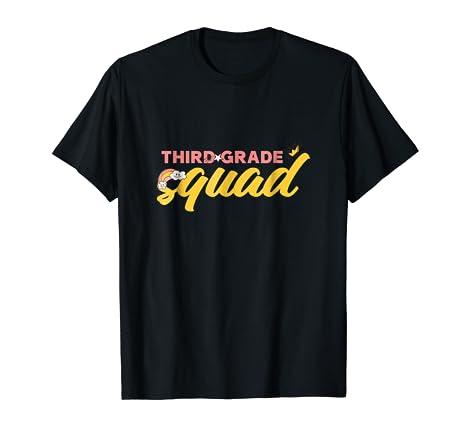 Amazoncom Back To School Shirt Boys Girls 3rd Grade Squad Gift