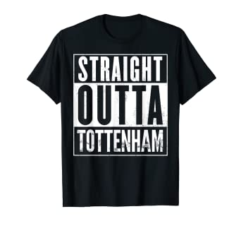 502c19a5 Image Unavailable. Image not available for. Color: Mens Straight Outta  Tottenham UK Funny T-Shirt