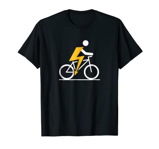 Image Unavailable. Image not available for. Color  Cool E-Bike Rider T-Shirt 542260d7c
