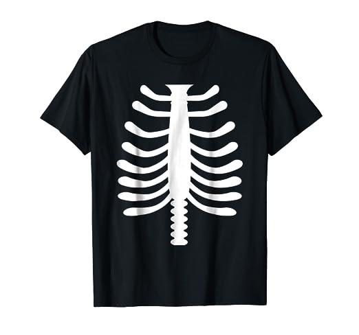 e3b08652 Amazon.com: SKELETON SHIRT Bones Rib Cage Fancy Dress Outfit Kids ...