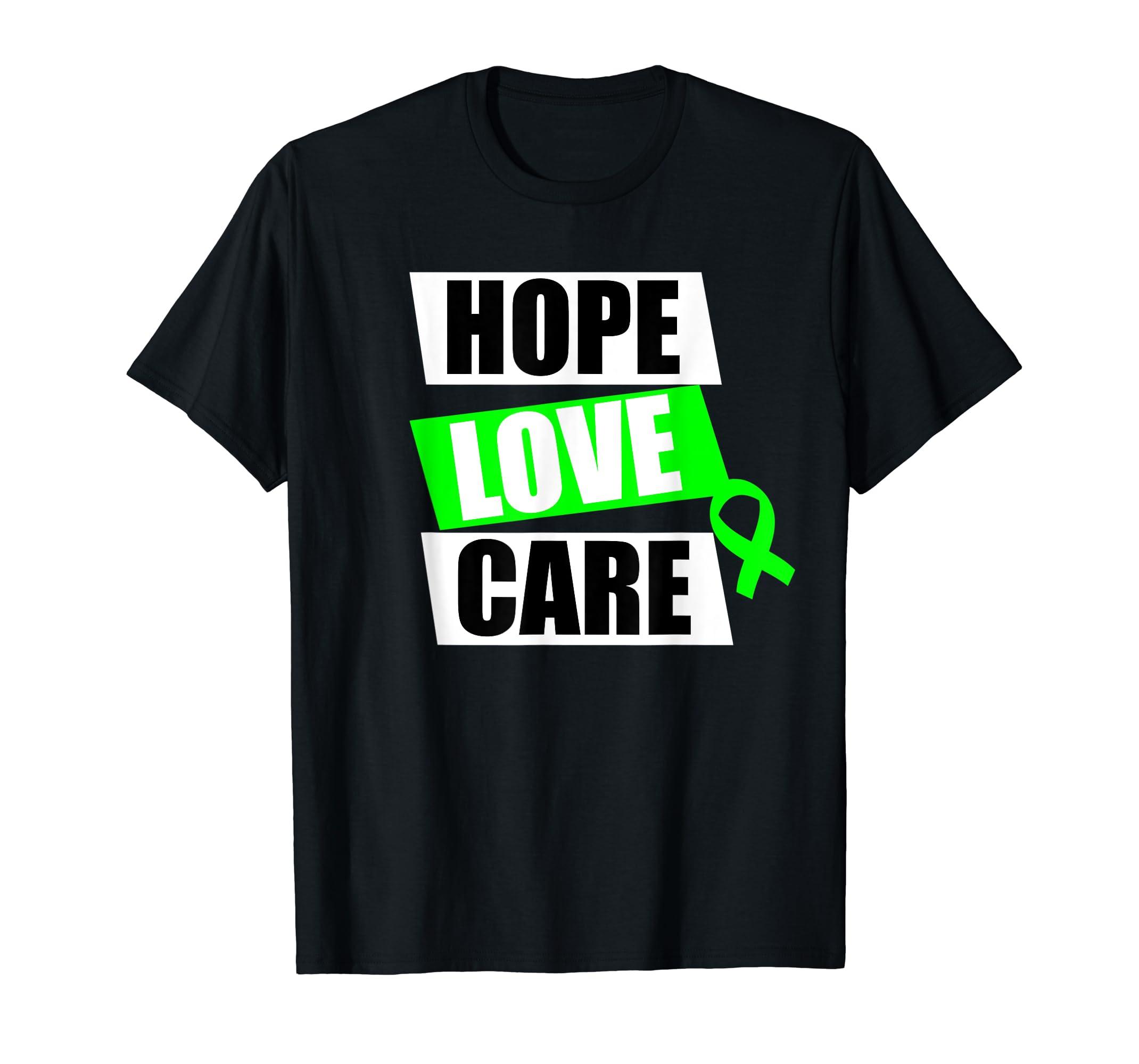 Hope Love Care – Mental Health Awareness T-Shirt