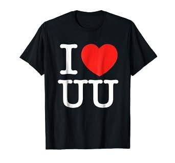 amazon com i love uu heart funny gift t shirt clothing