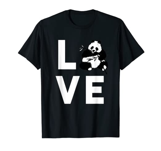 4aa5d5bc1 Image Unavailable. Image not available for. Color: Cute I Love Pandas T- Shirt | Funny Panda Bear Lover Gift