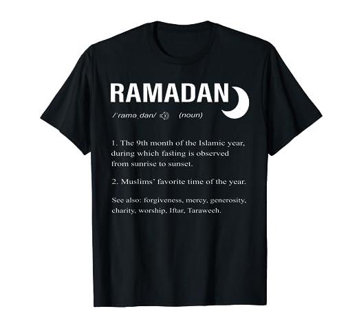 c0a4e20da Amazon.com: Ramadan Awareness Month T-Shirt Nice Dictionary ...