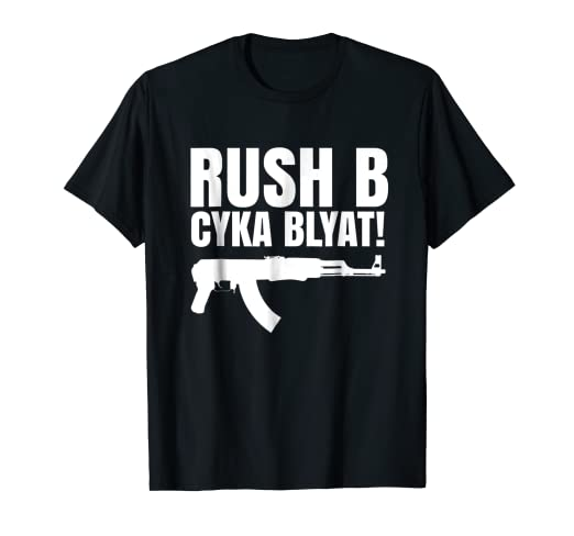 3bd1878ed82a Image Unavailable. Image not available for. Color: Rush B Cyka Blyat T-Shirt