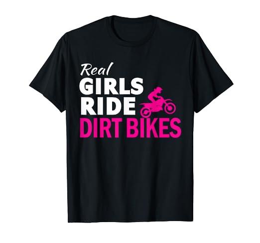 Amazon Com Real Girls Ride Dirt Bikes Motocross Race Motorcycle T