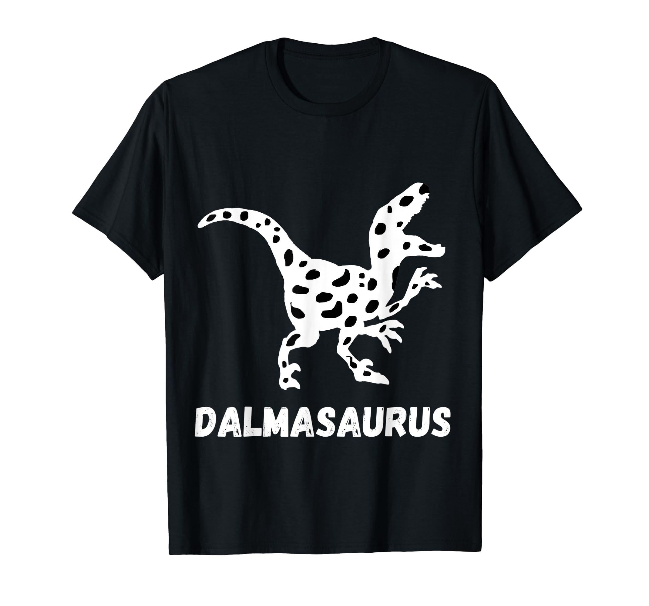 Dalmatian Saurus Dalmatians Dog Dinosaurs Puppy Breed TShirt-Men's T-Shirt-Black