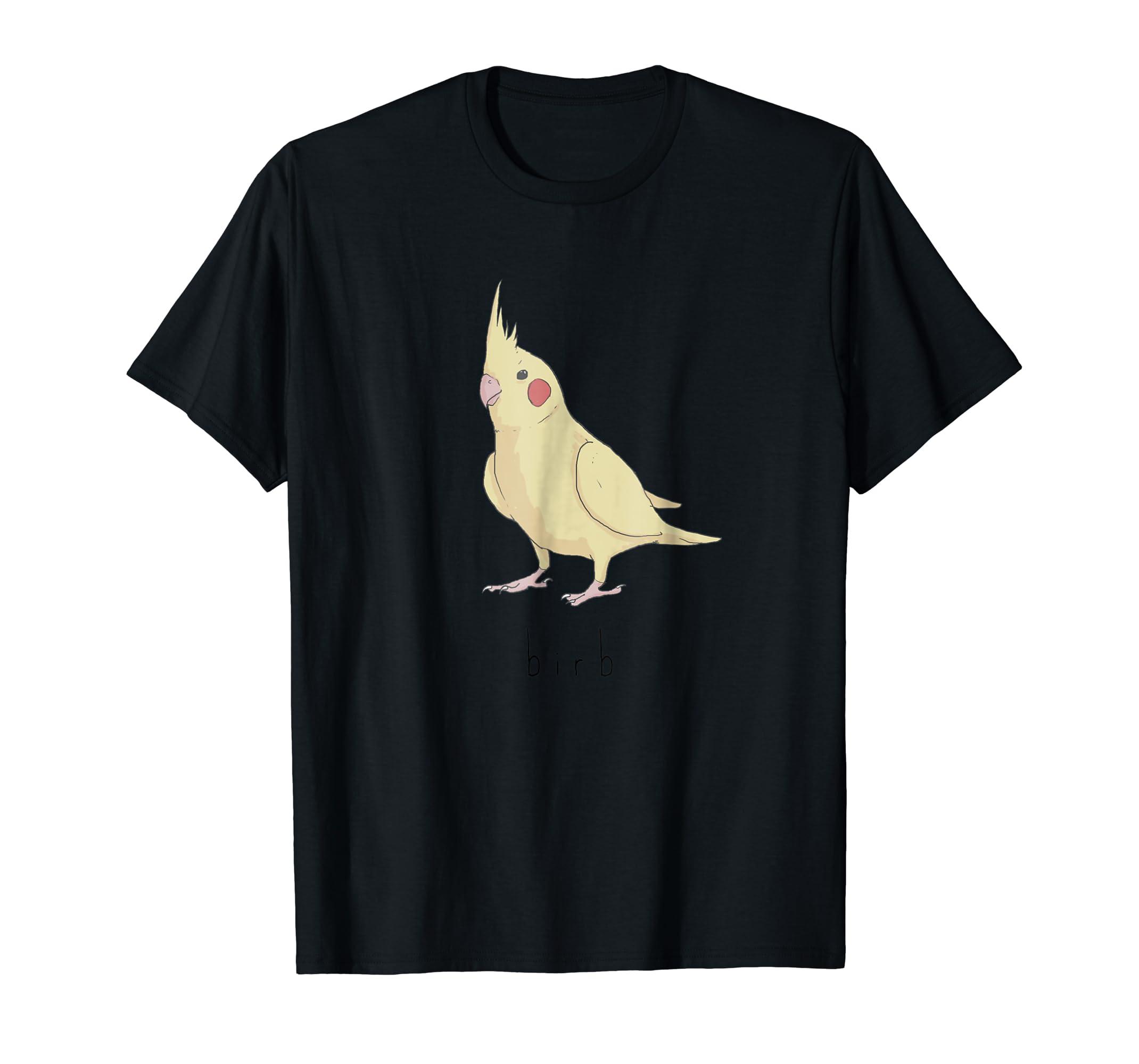 Birb Meme Shirt - Yellow Cockatiel Bird T-shirt-Men's T-Shirt-Black