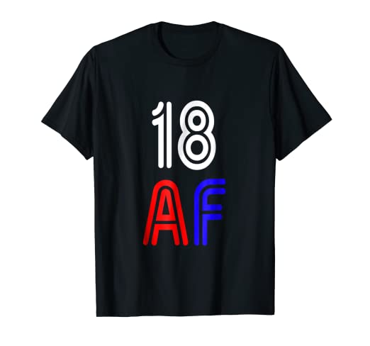 Image Unavailable Not Available For Color Retro 18 Years Old AF Shirt 18th Birthday Decorations Gifts