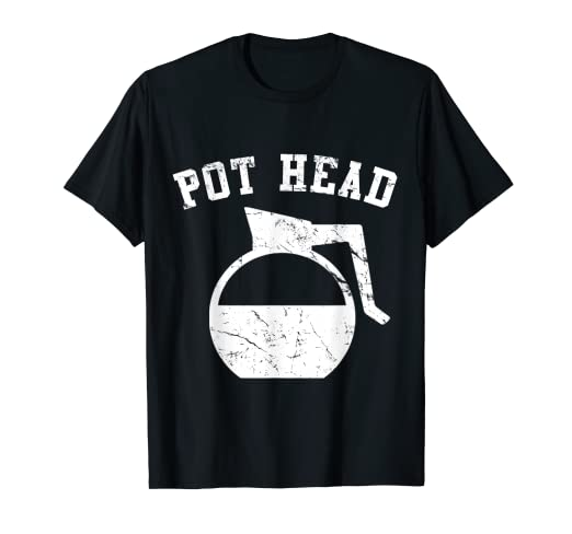 05e4222f246 Image Unavailable. Image not available for. Color  Coffee Pot Head T-Shirt
